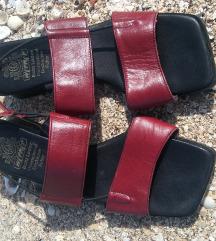 Bordo kožne sandale