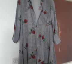 STRADIVARIUS Karirana košulja-haljina
