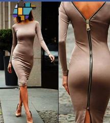 Midi haljina sa zipom novo