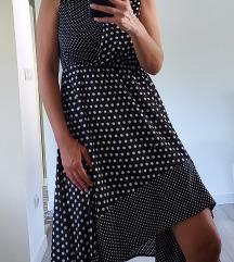 Asimetricna haljina na tockice...pt u cijeni