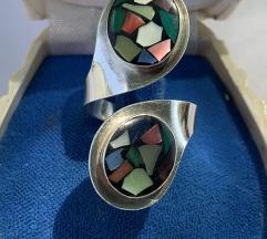 Vintage podesivi prsten 925 mosaic