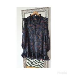 Maje Jacquard-printed babydoll haljina RRP$375