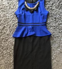 Uska plava haljina