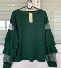 Nikad nošena smaragdno zelena bluza