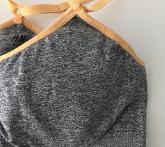 Novo H&M sivo narančasti sportski grudnjak