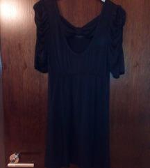 Crna haljina puf rukavi S