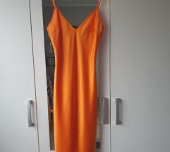 Zara narancasta haljina