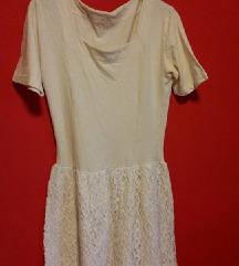 vintage bijela čipkana haljina