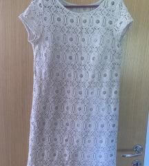 Sniženo: SISLEY čipkasta haljina