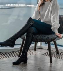 SNIŽENJE Kozne cizme iznad koljena