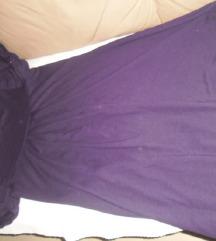 Ljubičasta tunika-haljina 40