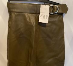 Zara mini kožna suknja - XS