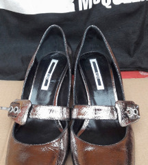 McQ srebrne cipele kozne