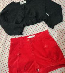 H&M bolero i plišane kratke hlačice