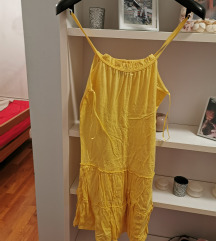 ZARA zuta haljina xs velicina