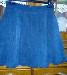 Samtana plava suknja, nova