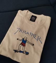 Thrasher bijela majica S (pt uklj)