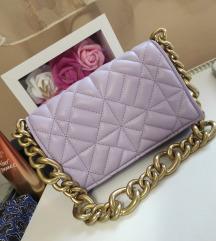 Zara lila torbica s lancem