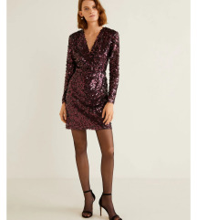 Sniženoo šljokičasta haljina