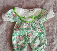 Pidžama za bebu lutku - zelena