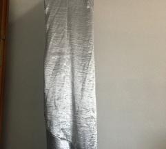 Duga srebrena haljina