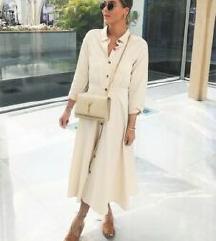 REZZ - Zara bež košulja haljina kao nova