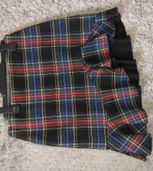 Zara asimetrična karirana suknja s volanom