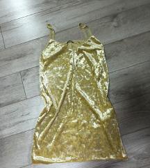 Zara slip zuta haljina