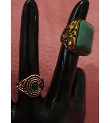 zeleno i mint vintage i boho prstenje LOT