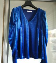 Kraljevski plava plišana bluza