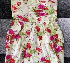 Cvijena haljina tvrdog korzeta