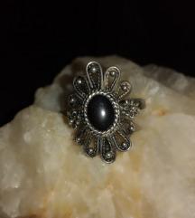 Antik srebreni filigranski prsten