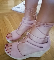 BEAUTY GIRL'S roza plutarice sandale/NOVO