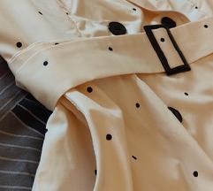 NOVO Točkasta haljina na preklop sa remenom M/L