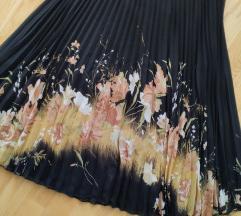 Plisirana midi suknja do 52cm u struku