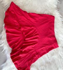 ASOS mini roza suknja na volane