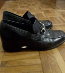 Crne vintage cipele od prave kože!!!