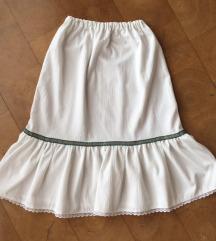 Vintage bijela suknja
