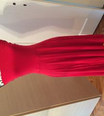 Scandale haljina vez ramena crvena