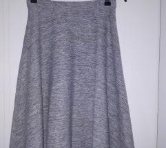 Reserved siva pamucna suknja XS