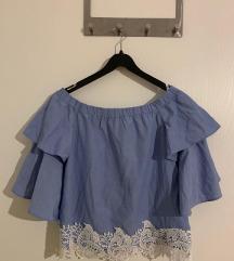 ZARA Bluza bez ramena, veličina M