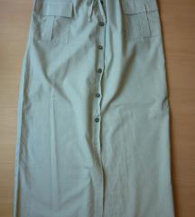 Pamučna suknja visoki struk, M/L