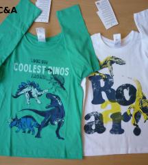 F&F+C&A pamučna majica, 2 kom. 5-6 g.116