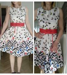 Pin up cvjetna haljina L-XL