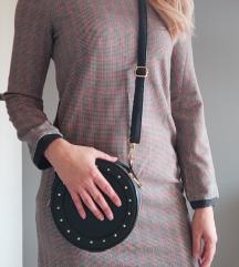 Zara karirana haljina, ravan kroj XS