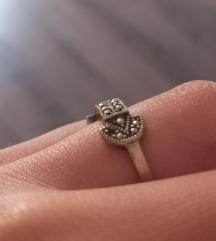 Srebro 925 žig vintage prsten