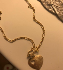 Zlatni lančić i privjesak