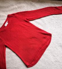 Crvena pletena majica
