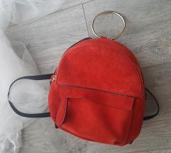 Zarin mini ruksak od prave brušene kože