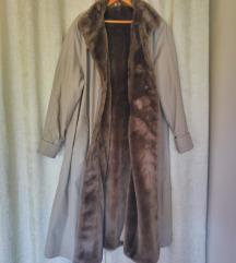 topli zimski kaput sivi